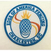 Quality Custom sew on embroidery badges for clothing for sale