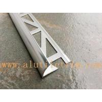 Quality Triangle punching shiny silver round edge tile trim for sale