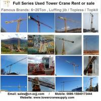 Buy Tower Crane Rent MCT88 Tower Crane Lease Rent Hire at wholesale prices