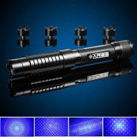 Quality 2500mW Waterproof Blue Laser Pointer Flashlight 445nm Beam 18350 Rechargeable Battery Powered for sale