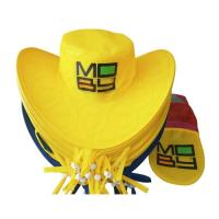Quality Nylon Coloful Folded Cowboy Hat for sale