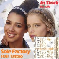 Quality Wholesale metallic gold and silver hair tattoo sticker hair accessories manufact for sale