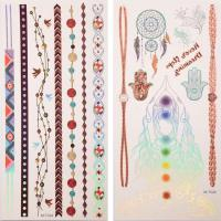 Quality Oem flash gold silver foil henna temporary metallic tattoo for sale