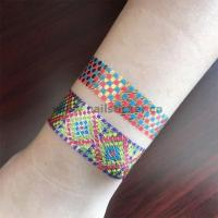 Quality style body art painting tattoo stickers glitter Metal gold silver temporary flas for sale