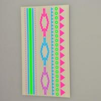 Quality Custom florescent colorful neon temporary body tattoo sticker supplier for sale