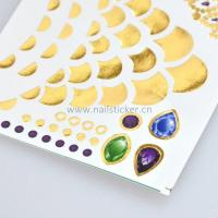 Quality Custom dazzling gold silver necklace jewelry tattoo sticker manufacturer for sale