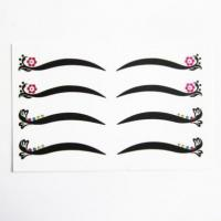 Quality Customsexy temporary makeup eye tattoo floral rhinestone eyelids liner stickers for sale