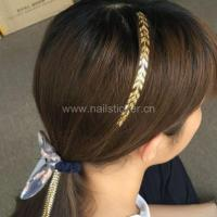 New fashion gold and silver temporary hair tattoo sticker factory