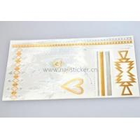 Dazzling flash gold temporary jewelry tattoos manufacturer