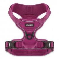 Quality Dual-Attachment Adjustable Harness - 3M Reflective Band - Fuchsia for sale