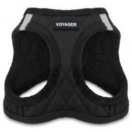 Buy Voyager Plush Faux Leather Harness - Black at wholesale prices