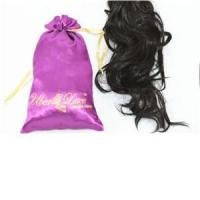 Quality Hair extension packaging satin bags for sale