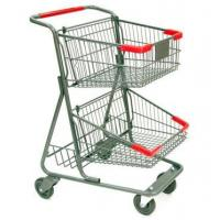 Buy cheap Q195 steel sturdy two-tier shopping cart from wholesalers