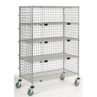 Buy cheap Multiple-layer chrome, zinc coated three-sided wire cart from wholesalers