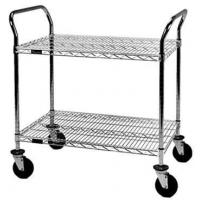 Buy cheap Chrome, zinc, powder coated steel wire shelving cart from wholesalers
