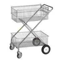 Buy cheap Modular, shelving, X-frame design wire basket cart from wholesalers