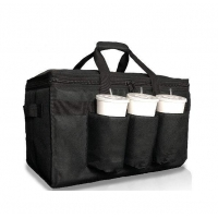 Insulated Food Delivery Bag with Cup Holders Drink Carriers Great for Beverages Grocery Catering