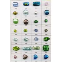 China silver foil lampwork glass beads on sale