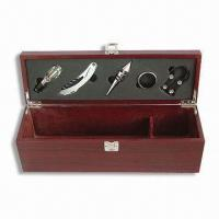 Buy cheap Five-piece Wooden Wine Box With Accessories, Single Bottle from Wholesalers